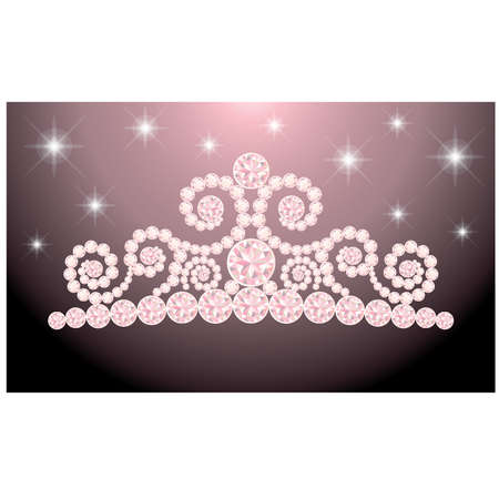 Beautiful wedding diadem Vector