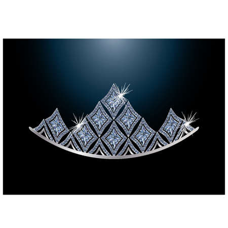 Diamond diadem, vector illustration Vector