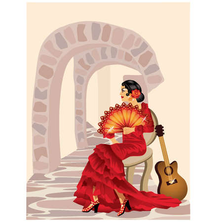 flamenco: Spanish flamenco woman