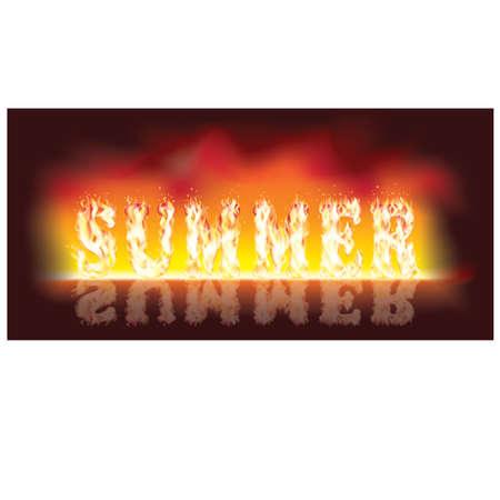 en: Summer en fire illustration