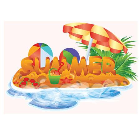 Summer card illustration  Vector
