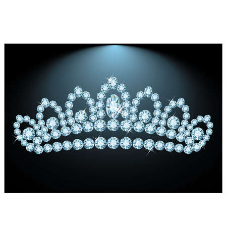 miss: Beautiful Diamond tiara, vector illustration