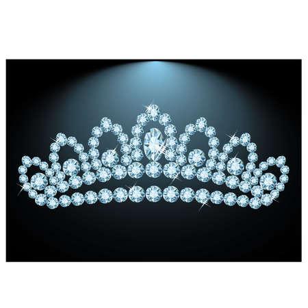 diadem: Beautiful Diamond tiara, vector illustration