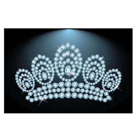 miss: Diamond triada, vector illustration Illustration