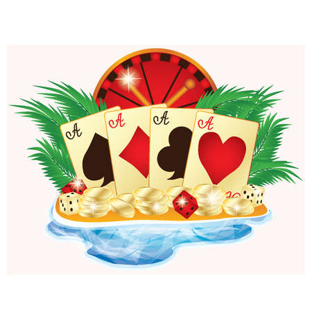 Casino summer banner, vector illustration Stock Vector - 13490820