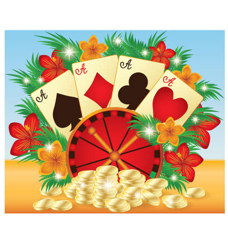 Summer casino card Stock Vector - 13545456