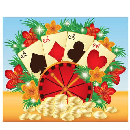 Summer casino card Stock Vector - 13545456