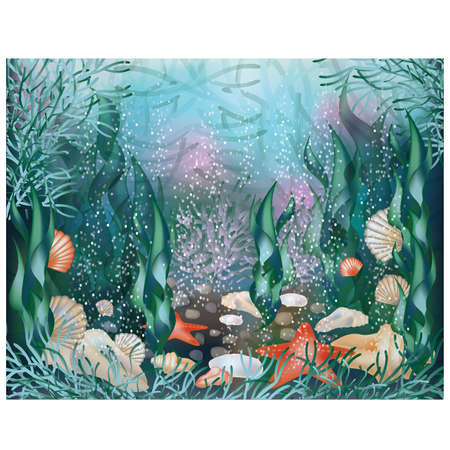 Underwater world, background Stock Vector - 13545454
