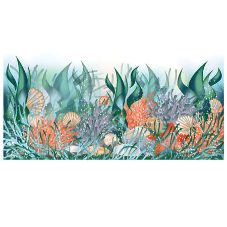 seawater: Underwater banner Illustration