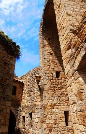 patrimony: Medieval gothic city Pals, Catalonia, Spain     Stock Photo