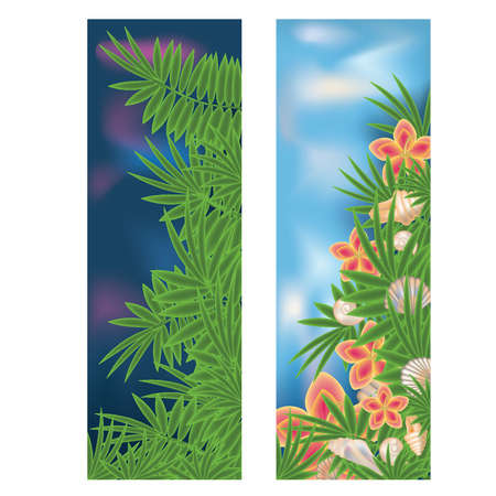 Two tropical banners Stock Vector - 13802122