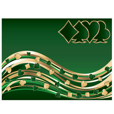 gambler: Poker golden green banner