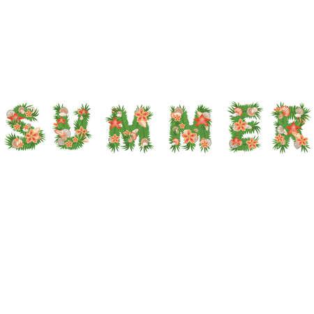 Summer word Stock Vector - 13995727