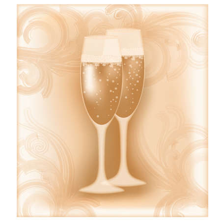 Wedding champagne, vector illustration Vector