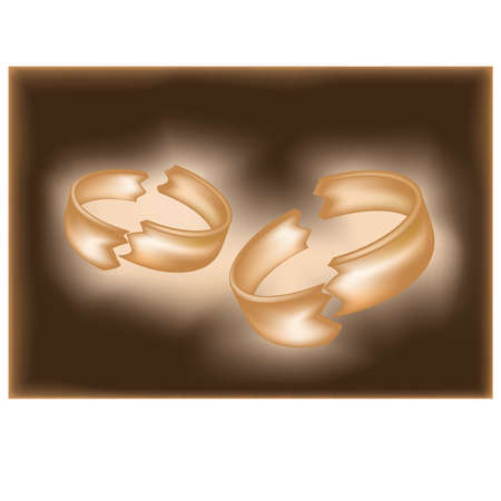 divorce: Divorce ring , vector illustration Illustration