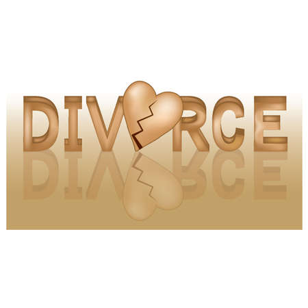 famille malheureuse: Banni�re divorce, illustration vectorielle Illustration