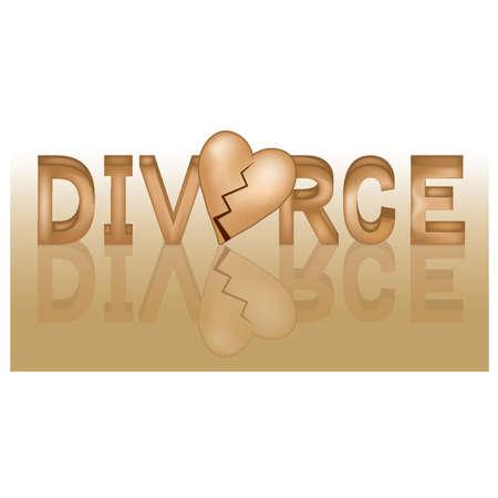 distressing: Divorce banner, vector illustration Illustration