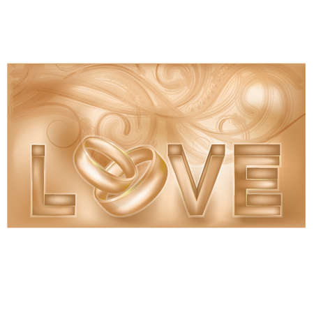 Love wedding card, vector illustration Vector