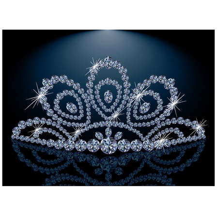 Diamond Diadem feminine wedding Vector