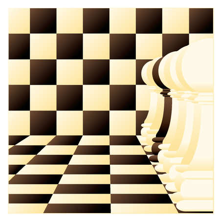 tactic: Abstract vector background with a Individual chess pawn Illustration
