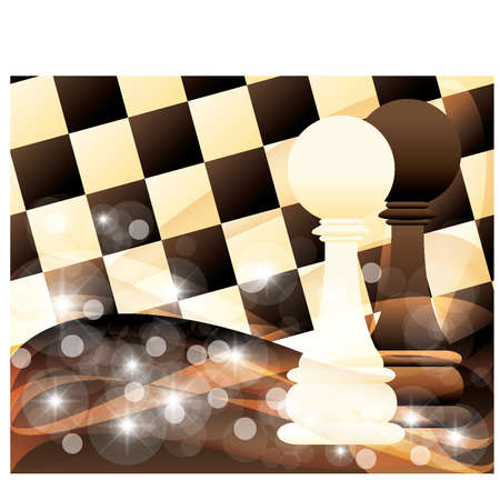 checkers: Abstract background with two chess pawn