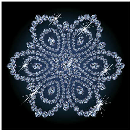 precious stone: Diamond flower