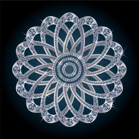 Silver diamond flower Stock Photo - 14361107