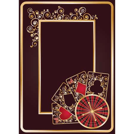 Elegant poker background, vector illustration