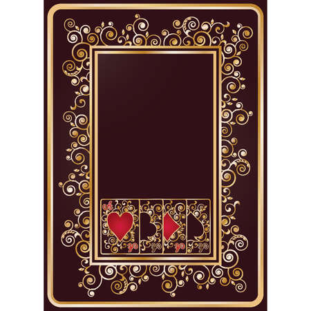 Elegant casino background with poker cards, vector illustration Vector