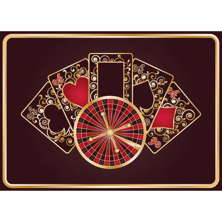Casino banner with elegant poker symbols, vector illustration Vector