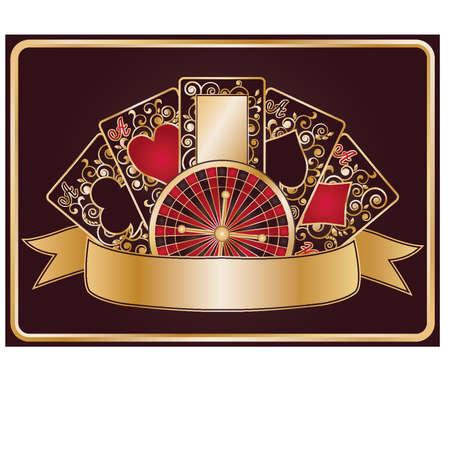 Elegante bandera de p�quer, ilustraci�n vectorial