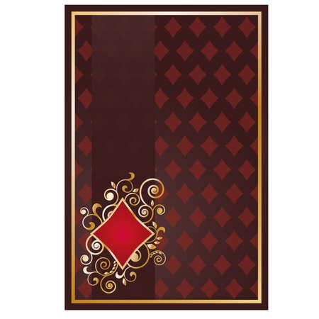 Poker diamonds card