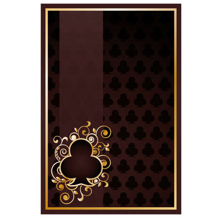 Poker clubs card Vector