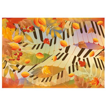 Musical autumn banner