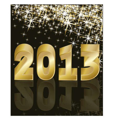 New Year 2013  Stock Vector - 14799893