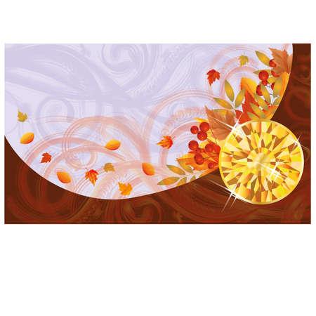 Herfst banner met topaas, vector illustration