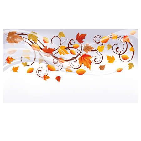 Herfst banner, vector illustration Stock Illustratie