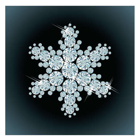 Diamond snow , vector illustration Stock Vector - 14916517