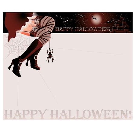 Happy halloween magic card,  illustration Çizim