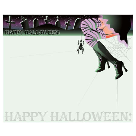 Happy halloween magic background,  illustration Vector