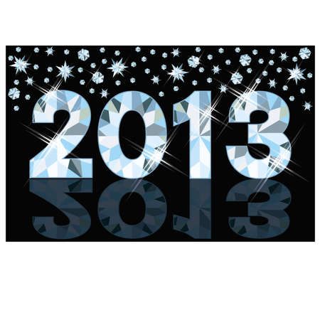 Diamond 2013 New Year banner, vector illustration  Stock Vector - 15090115