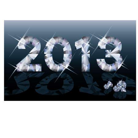 Diamond 2013 New year banner, vector illustration Stock Vector - 15090130