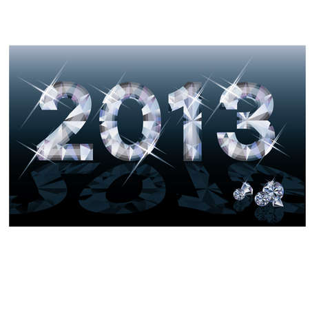 fiambres: Diamond bandera del A�o Nuevo 2013, ilustraci�n vectorial Vectores