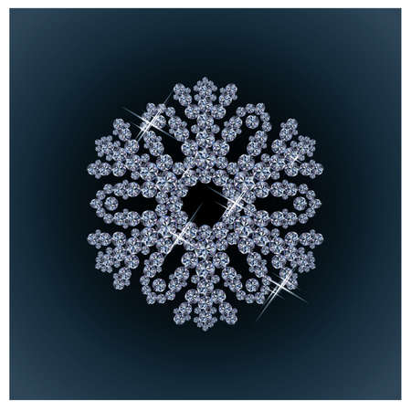 Diamond snow card Stock Vector - 15134169