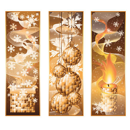 Set vertical christmas banners Vector