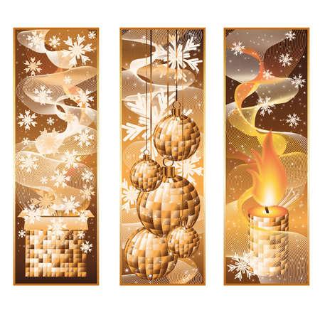 conifer: Set vertical christmas banners Illustration
