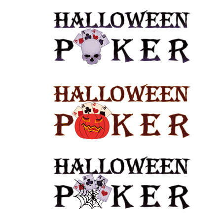 Halloween poker   Vector