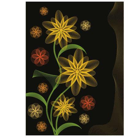autumn flowers: Autumn flowers, vector illustration Illustration