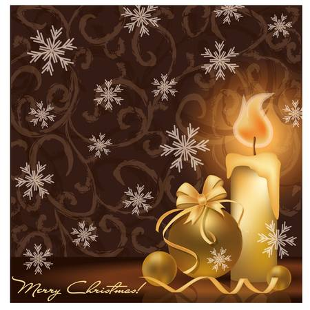 Golden Christmas card Stock Vector - 15779711