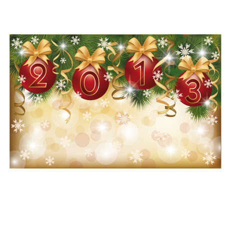 New 2013 Year greeting banner, vector illustration Vector